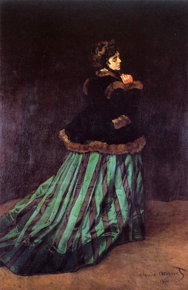 Camille, Woman in a Green Dress