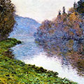 Banks of the Seine at Jenfosse: Clear Weather by Claude Monet
